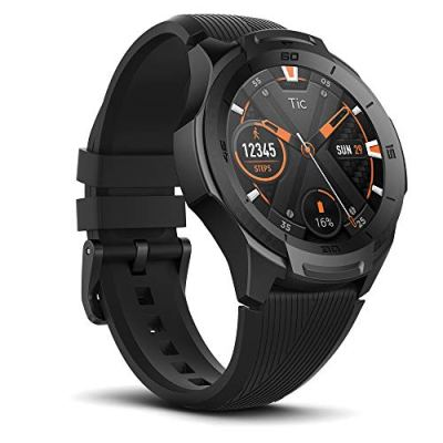 Ticwatch S2 Waterproof Smartwatch with Build-in GPS 24h Heart Rate Monitor Wear OS by Google Compatible with Android and iOS-Midnight