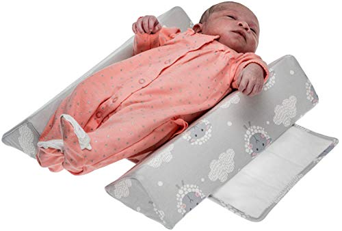 Mountain Baby Pillow - Baby Sleep Positioners Crib Wedge – Baby Pillow for Newborn Infant – Adjustable Baby Pillows for Sleeping – Removable Washable Cover – Memory Foam – Ideal for Baby Shower