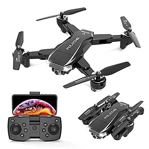 WYZXR 5G FPV Mini Drone Pieghevole 4k HD Doppia Fotocamera GPS Posizionamento del Flusso Ottico Droni Volano 25-30 Minuti Trasmissione in Tempo Reale RC Quadcopter, 1 Batteria