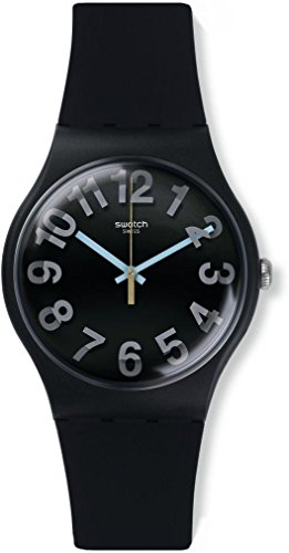 Swatch Herren Digital Quarz Uhr mit Silikon Armband SUOB133