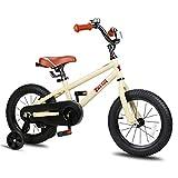 JOYSTAR 18 Inch Kids Bike for 5 6 7 8 9 Years Old Girls & Boys, Unisex Child Bicycle with Kickstand, Beige