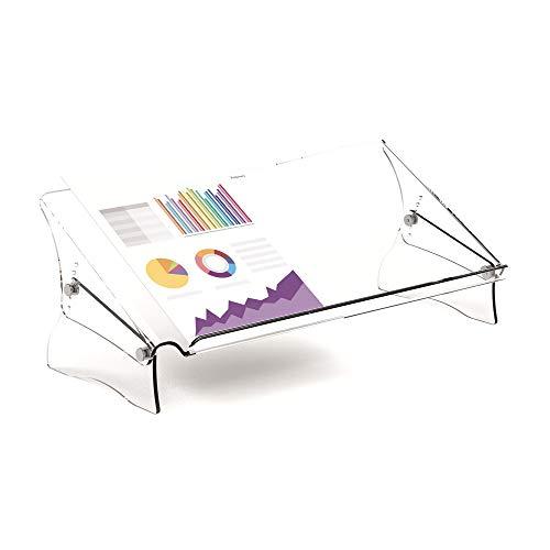 Fellowes Clarity Konzepthalter, höhenverstellbar, für A4 und A3 Dokumente, transparent, 9731301