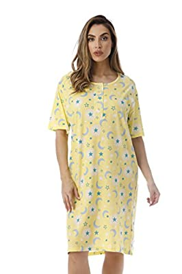 ENJOY RESTFUL NIGHTS: Made using 100% cotton, these are some of the comfiest nightgowns for women, guaranteed to make every night a luxuriously soft affair. The oversized night shirts are comfortably breathable to keep sweating at bay and don't bunch...