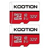 KOOTION Carte Micro SD 32 Go Lot de 2 Carte Mémoire UHS-I Vitesse jusqu'à 85...