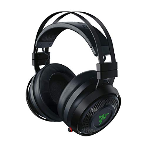 Razer Nari Ultimate – Wireless Gaming Headset (Kabellose HyperSense Kopfhörer, Ohrpolster mit Kältegel, THX Spatial Audio & RGB Chroma Beleuchtung für PC, Xbox One, PS4 & Switch) Schwarz