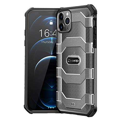 ZtotopCase-Compatible-with-iPhone-12-Case-iPone-12-Pro-Case-61-Inch-2020-Military-Grade-12-Ft-Drop-Tested-Heavy-Duty-Shockproof-and-Anti-Fall-Protective-Translucent-Cover-Black