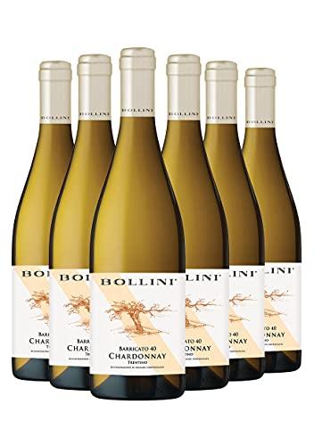 Bollini Chardonnay Barricato 40-2020 - Vino Trentino Bianco - DOC - 0.75L (6 Bottiglie)