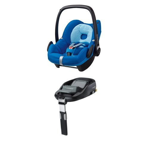Maxi-Cosi Pebble, Babyschale Gruppe 0+ (0-13 kg), watercolour blue, mit Isofix-Station