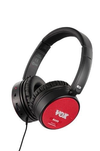 VOX Amphones BS - Active Bass Guitar Amp Headphones - Red