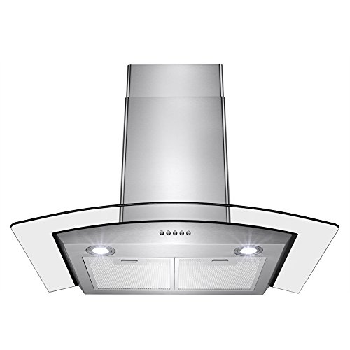 "7. Perfetto Kitchen and Bath 30"" Convertible Wall Mount Range Hood"