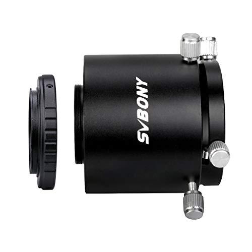 Svbony SV123 Adaptador Camara Telescopio Terrestre M42x0.75mm Longitud Adjustable Adaptador T2 Telescopio Terrestre Compatible con Nikon SV13 SV14 SV46
