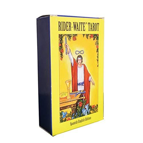 HEHEERHUO El Destino clásico de adivinación Card-Radiante Tarot Rider Waite (Gratis Regalos; manteles de Tarot y Bolsas De Almacenamiento)