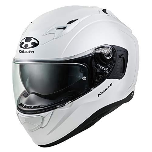 オージーケーカブト(OGK KABUTO)バイクヘルメット フルフェイス KAMUI3 パールホワイト (サイズ:S) 584610