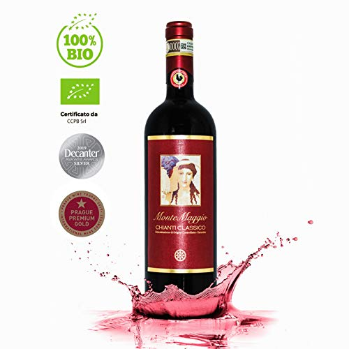 Chianti Classico di Montemaggio - Vino Toscano Biologico Chianti Gallo Nero - DOCG - Fattoria di Montemaggio - Annata 2014 - 0.75L - 1 Bottiglia