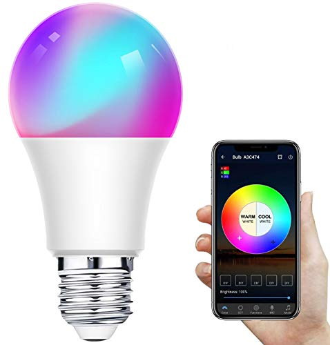 Bombilla LED Inteligente WiFi,Regulable 12W E27 Bombilla LED...