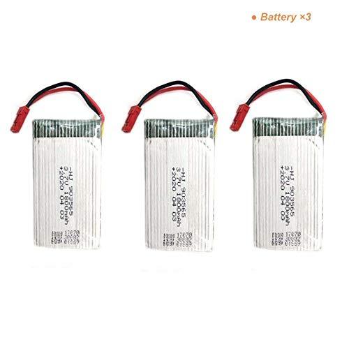 PRsellings Batteria Lipo 3.7v 1s 1800mAh con Set di Caricabatterie per JJRC H68 HJ28 HJMAX RC Drone...