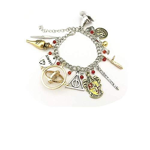 Ivy & Clover HP Inspired Horcrux Crest Charm Bracelet Gryffindor