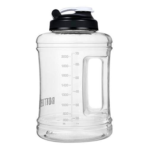 VENNERLI Palestra Borraccia 2.5 Litri Bottiglia per Acqua Plastica BPA Free, Resistente, Tappo Antigoccia, Ideale per Bambini,Scuola,Sport,Campeggio,Yoga,Palestra,Ciclismo