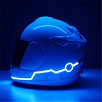 It is designed with super thin & high brightness flexible EL (electroluminescent) wire that does not emit any heat, UV created or electromagnetic radiation. It can be bent to any shape around your helmet to create a captivating lightening effect Helm...