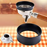 58mm Espresso Dosing Funnel, Black Stainless Steel Coffee Dosing Ring Portafilter Dosing Funnel Compatible with 58mm Portafilter(1 piece)