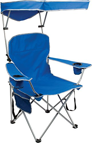 Quik Shade Full Size Shade Folding Chair, Royal Blue, 2'L x 3'W x 4.3'H (160048DS)