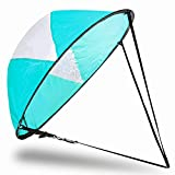Veritovita 42 inches Downwind Wind Sail Kit Kayak Wind Sail Kayak Paddle Board Accessories,Easy Setup & Deploys Quickly,Compact & Portable