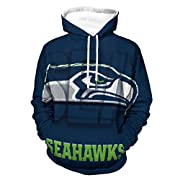 Specially designed for Seattle Seahawks fans, a great gift for family and friends! High-quality materials and printing technology, so that the hoodie will not have peculiar smell and the patterns are clear and will not fade. Soft feel, slightly elast...