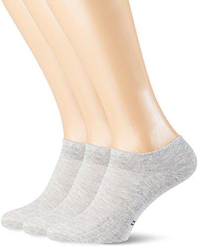 POMPEA Cotton Calzini alla caviglia, Grigio Melange 1350, (Taglia Produttore:39/42) (Pacco da 3)...