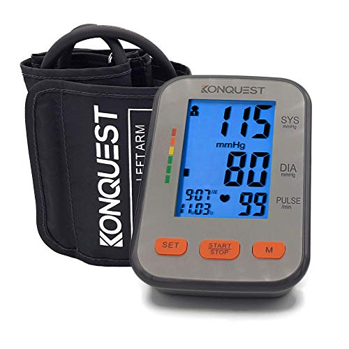 Konquest KBP-2704A Automatic Upper Arm Blood Pressure Monitor with Backlit Display - Accurate,…