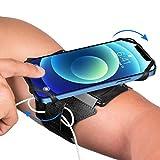 VUP Sport Brassard Smartphone,Porte Telephone Brassard,360 °Roation Compatible avec iPhone 12 Pro Max/Mini/11/XS/SE/8,Samsung Galaxy S20/S10, Huawei,Xiaomi