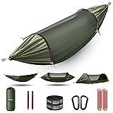 Hamac ETROL, mise à niveau hamac de camping avec moustiquaire, 3 dans 1...