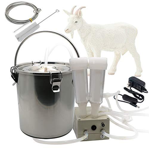 Hantop Goat Milking Machine, Pulsation Vacuum Pump Milker, Automatic Portable Livestock Milking Equipment (3L,for Goat)