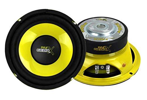 Pyle PLG64 6.5' 300 Watt Car Mid Bass/Midrange Subwoofers Sub Power Speakers (2)