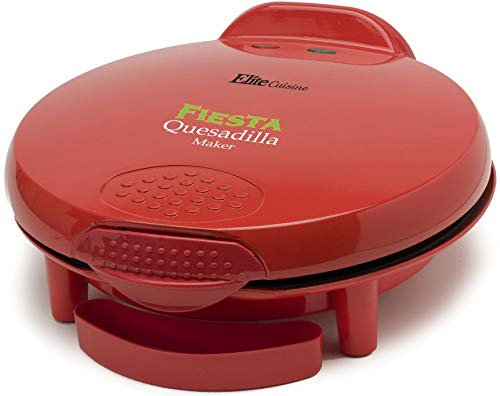 Elite Cuisine EQD-118 Maxi-Matic 11' Non-Stick Quesadilla Maker, Red