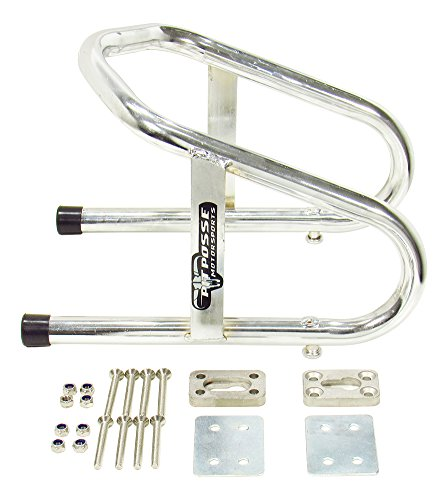 Pit Posse 11-017 Chrome Motorcycle Removable 6 1/2' Wide Wheel Chock Nest Tire Trailer Holder- 5 Year Warranty