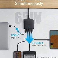 Anker PowerPort Atom III Slim 4 Çıkışlı 65W Power Delivery Gan Hızlı Şarj Cihazı, A2045 18