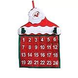 thematys Calendrier de l'avent à remplir et Suspendre - Beau Calendrier de Noël Bricolage avec Chiffres pour Hommes, Femmes et Enfants