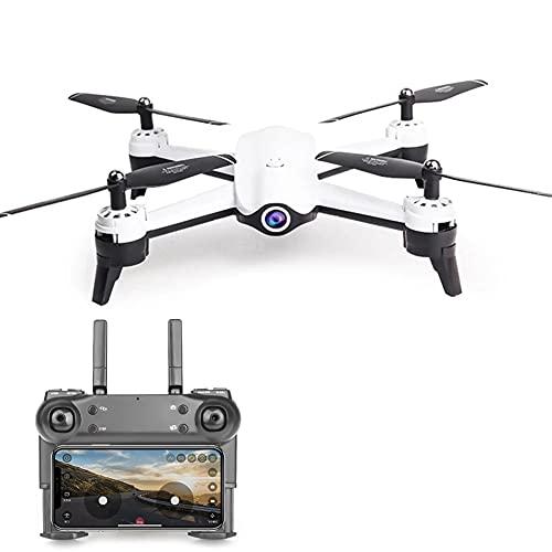 MAFANG 1080P Drone con Telecamera FPV, Quadricottero WiFi con Tecnologia Flusso Ottico, modalit Segna E Traccia, Volo Circolare, G-Sensore, modalit Senza Testa, per Adulti E Principianti,Bianca