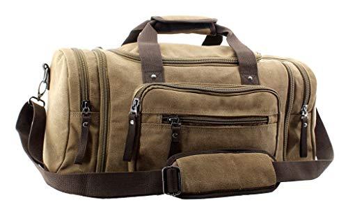 Jiao Miao Overnight Handbag Shoulder Canvas Travel Tote Luggage Weekender Duffel Bag,170804-04