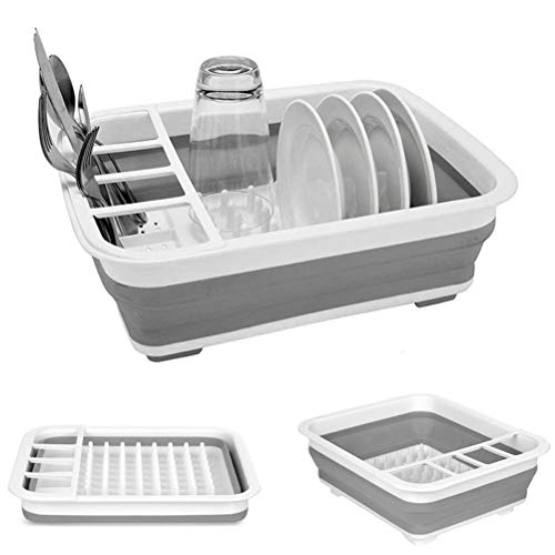 Collapsible Dish Drying Rack Portable Dish Drainer Dinnerware...