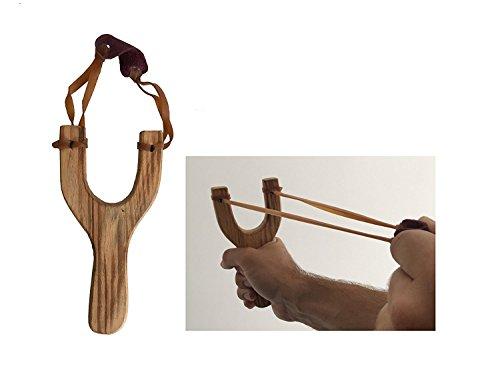MEIERLE & Söhne Holz Steinschleuder Zwille Retro Schleuder aus Holz schön Klassische Fltische auch super für Kinder