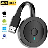 MPIO Wireless HDMI Display Dongle Adapter, 4K Ultra HD WiFi Streaming Video Receiver for iPhone/iPad/iOS/Android/PC/Tablet/Windows/Mac OS to HDTV/Monitor/Projector, Support Miracast, DLNA, Airplay