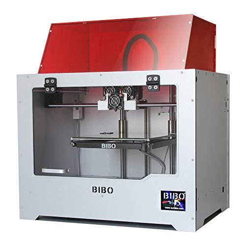 BIBO 2 3D Drucker Mit Gravurmodul Stabiler Rahmen Dual Extruder WIFI Touchscreen Schnitt Druckzeit In Halb Filament Erkennen Beheizbares Glas Druckbett
