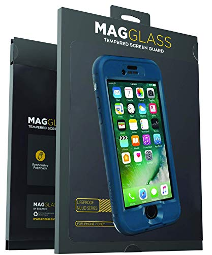 Magglass Custom Screen Protector for Lifeproof Nuud Case (iPhone 7) Tempered Glass Only, Case Not Included