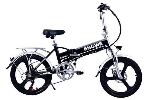 BIKFUN Bicicletta Elettrica Pieghevole, Bici al Lavoro, E-Bike,Fold 20/26, Adulto, 250W Batteria 36V...