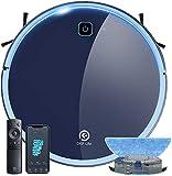 Aspirateur Robot, Aspirateur et Laveur de Sol 3 en 1, Super Aspiration 2200Pa, Débit d'Eau Réglable, Contrôle Avec WIFI/Alexa/App, Idéal pour le Poils d'Animaux/Cheveux/Poussière/Tapis