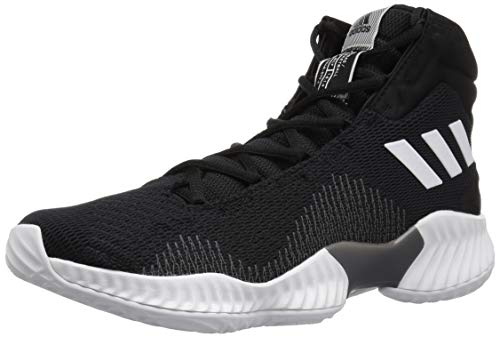 adidas Men's Pro Bounce 2018 Basketball Shoe, Black/White/Grey, 9 M US