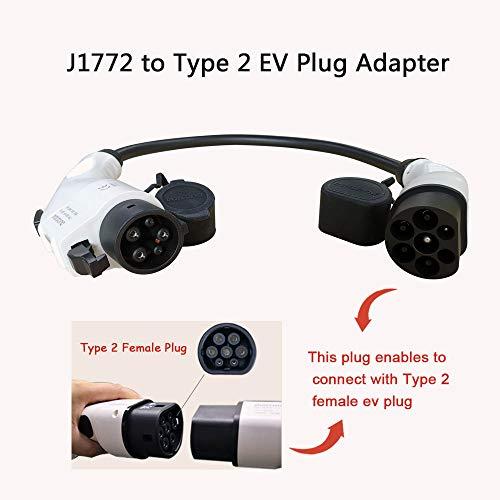 Adaptador Tipo1 a Tipo 2 32A Tipo 1 Macho a Tipo 2 Hembra