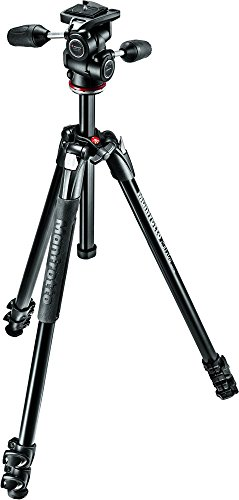 Manfrotto 290 Xtra Aluminum 3-Section Tripod Kit with 3-Way Head (MK290XTA3-3WUS)