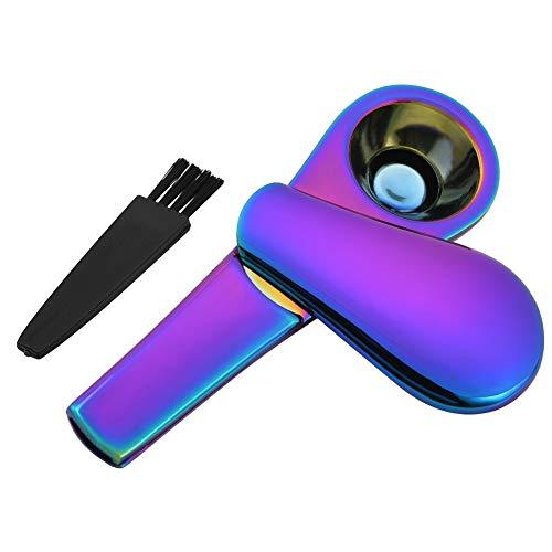 Cizen Pipa de Metal, Pipa Fumar de Portatil Aleación, Embalaje Caja de Regalo(Azul Hielo)